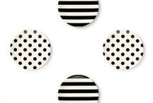 Black Lines. White Spaces. / The classic black and white. It is used in so many forms. The stripes, the polka dots, the herringbone patterns, the ascot patterns, the cross hatches, and etc.