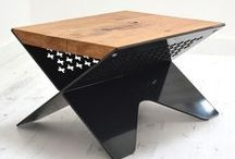 Industrial Steel Designs / Get the industrial look you want, by having a bespoke reclaimed wood and steel piece of furniture made for you!