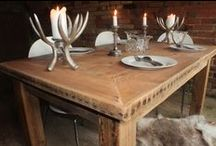 Handcrafted Dining Tables / A collection of stunning dining tables ready for those special occasions, whether it be for a dinner part, Christmas party, Wedding or Garden party.