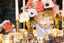 {beautiful tables} / tablescapes, floral, flower centerpieces