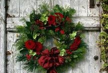 {wreaths} / holiday, christmas, flowers, greenery