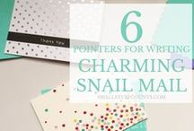 Snail Mail & Stationary / Inspiration and tips for sending thoughtful and fun snail mail to your family and friends.