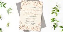 Designs by Paper Alphabet / Gorgeous invitations lovingly made by graphic designer; Erin Klapper. Paper Alphabet designs wedding invitations, baby shower invitations, birthday invitations, custom invitations and DIY printable invitations.