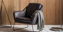 Leather and Fabric Dining and Accent Chairs / Take a look at the full collection of leather and fabric upholstered dining and accent chairs available at Modish Living.