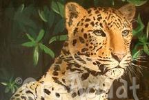 Creagaat's animal paintings / Wilde dieren of huisdieren, vastgelegd op papier of doek. Wildlife or domestic animal, drawn or painted on paper or canvas.