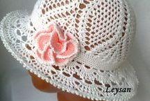 háčkované čepičky, crocheted hat / hats