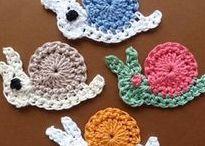 háčkované aplikace, crocheted application