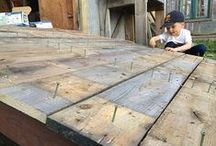 Shed Ramp - How to build a Backyard Shed Ramp / ►1: Attach Ledger Board to the Garden Shed  ►2: Attach Stringers to the Ledger Board  ►3: Install the Ramp Decking
