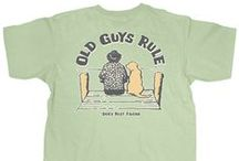 Dogs Are Man's Best Friend - Old Guys Rule / We can remember when they used to pee on the rug as puppies and to remind us, they'll do it again when they become old guys themselves. But man do we love our faithful pups, no matter what!