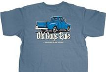 Cars & Motorcycles - Old Guys Rule / Start your engines. Get your hands dirty under the hood. Get a streak free shine. Old Guys Rule t-shirts and hats are built to last.