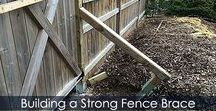 How to Brace a Wooden Fence - Steps / Way for bracing a wooden fence post. How to Install Sturdy Wooden Fence Posts. Detailed instructions with illustrations. Garden fencing ideas. Fence post bracing system.