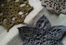 ~ CROCHET flowers 1 & leaves ~ / by Amina O with ♥ @ postmodern Amina O blog