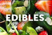 EDIBLES. / quick, easy and delicious meals & snacks for the girl on-the-go / by Soybu