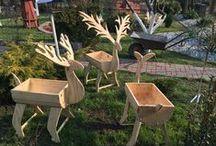 Drewniane Ozdoby Ogrodowe (Wooden Garden Ornaments) / Nowe ozdoby do ogrodu z drewna.  Własnoręcznie zrobione!