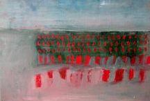 Peinture & coulées / Beaucoup d'abstrait et un peu de réel déformé par la peinture