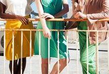 SS16 Eleftheria, Irini, Agapi & Sofia / Womenswear / Spring Summer 16 /  Photography: Chris Kontos /  Hair and Make-up: Katerina Mitropoulou /  Models: Rachel Owiti (ChicGlam Style blog), Adele McKeen, Brigitte Lalonde (Ace Models) /  Sandals: KYMA Sandals