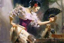 Illustration of flamenco / by Flamenco Nut