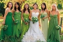 """A Green & White """"I Do!"""" / It's a great day for a Green and White wedding!"""
