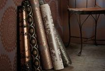We love...Metallics / Here at Harlequin, we love all things metallic for a winter 2014 interior. Not only will it keep you at the forefront of trends, it will add a touch of warmth to your home!