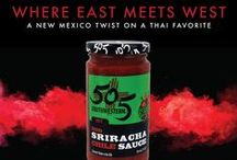 505 Southwestern Sriracha Sauce / East meets west. Our 505 Southwestern Sriracha Sauce is a New Mexico twist on a Thai favorite. Here are some selected recipes featuring this spicy sauce.
