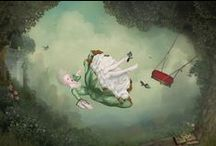 Mysterious and Creepy / Surrealist art, weird, creepy, unusual looking images... dark and mysterious, possibly scary...