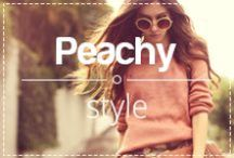 Peachy style / Peach is not just a color, it's a lifestyle