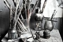 Inspiration: Art Studio / If I were to have an Art Studio, interior design, photos, etc.