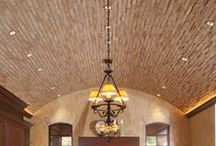 Inspiration: Architecture Ceilings / Various Ceiling Treatments with skylights, woods, molding, curves, etc.