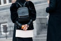 Street Style / A lot of  black  but not just  that !