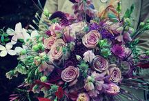 Bruidsboeket blauw / paars