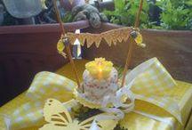 Teelicht Torte/Tealihgt Cake / für den Geburtstag eine mini Torte aus einem Teelicht gebastelt....