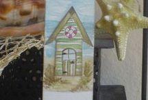Watercolor/Aquarell Hand Gift-Tags/Geschenkeanhänger & Card/Karten / nun habe ich es mal versucht handgemalte Aquarelle hin zu bekommen  und diese Geschenke Anhänger und Karten sind dabei rausgekommen....
