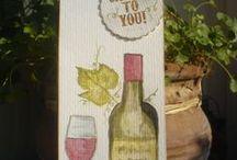 Aquarell Gift-Bottel-Tags-Hangers /Geschenk-Anhänger für Flaschen / Handgemalt in Aquarell Technik Geschenk Anhänger für Flaschen man braucht keine Karte mehr und kann seine Wünsche auf die Rückseite nieder schreiben ... schöne Idee und mal was anders ....