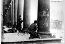 Polish Warsaw Uprising 1944 / As Nazi Germany was slowly being pushed back, the Free Home Army (Armia Krajowa) of Poland backed by Britain and America, revolted against the occupiers hoping the Red Army would help them. Stalin did nothing as the revolt was brutally crushed by the Germans in 1944.