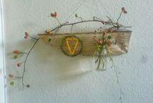 Herbstdeko / Autumndeko / Aus Natur Materialien habe ich meine Herbstdeko gemacht