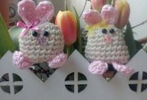 Crochet Easter Bunny / Häkel Osterhasen / Habe ich auf Pinterrest gesehen und gleich ausprobiert fertig gemacht  zum verschenken