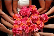 Roze & oranje bruiloft