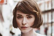 Short Hair Ideas / Cuts, styling and wishful celebrity 'shorties' for short hair inspiration.