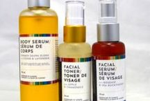 Facial Toner and Serum / Handcrafted body and facial serums with omega's, essential fatty acids and antioxidants.