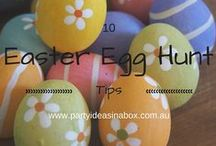 Easter / Celebrating Easter with children is about being together and playing Easter day games  and activities such as the easter egg hunt.