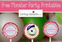 Monster Mash  / Party ideas, craft and activities to help the little ones play and pretend
