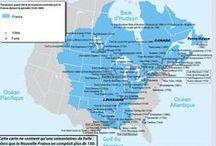 Nouvelle-France de 1608 à 1763 / La Nouvelle-France est alors un territoire immense, qui englobe un bonne part de l'Amérique du nord incluant les États-Unis actuels. Québec est la capitale à la tête de cet empire d'Amérique et son fleuve constitue la porte d'entrée naturelle vers l'intérieur du continent.