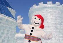 Carnaval de Québec /  -  Course de canots - Hôtel de glaces À Québec, notre Capitale nationale, le Carnaval prend place au début de février.