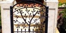 Garden & Walking Gates / Handmade wrought iron garden gates created by Metals & Nature.