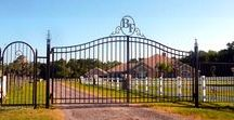 Driveway Gates & Estate Gates / Handmade iron driveway gates and estate gates created by Metals & Nature.