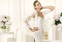 Wedding dresses , shoes and flowers