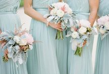 Bridal Party M&P'15 / What to wear...?!? Thinking light blue shirts and navy pants for the boys. Light blue for the girls in slightly shapes.