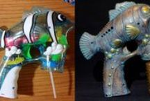 Making bubble guns steampunk
