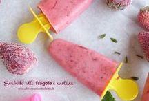 Sorbetti e dolci al cucchiaio #diversamentelatte / Ricette senza lattosio tratte dal mio blog www.diversamentelatte.it