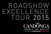 """ROADSHOW EXCELLENCE TOUR 2015 / Riconfermata anche per questa stagione la """"premiun partnership"""" che Candonga Fragola Top Quality orgogliosamente vive con Viaggiatore Gourmet. Un viaggio nelle cucine stellate d'Italia."""